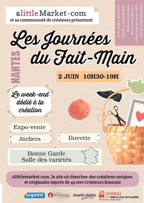 Les journées du Fait Main à Nantes - LITTLE MARKET affiche-1